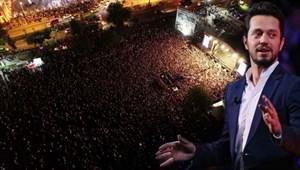Murat Boz Ordu'da 60 bin kişilik miting alanında 40 bin kişiye konser verdi