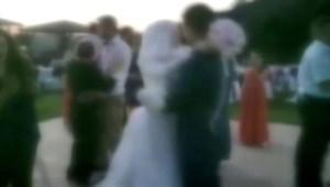 Davetliler fotoğraf çektirince iptal olan düğünün görüntüleri ortaya çıktı