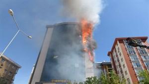 Son dakika... Ataşehir'de plazada yangın