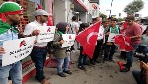 Suriyelilerden dolar bozdurma kampanyasına destek