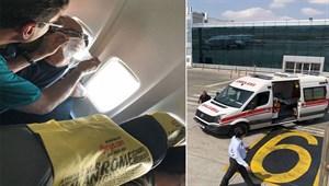 Uçakta panik anları! Pilot hemen kuleyi aradı